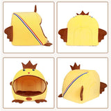 Yellow Foldable Cat Cave Chicken Shape Cat Beds & Baskets Pet Clever