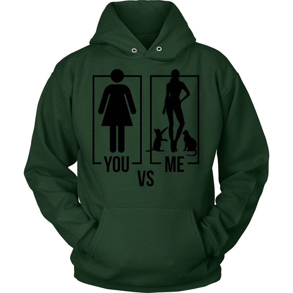 You Vs Me Type of Hoodie Jacket Design T-shirt teelaunch Unisex Hoodie Dark Green S