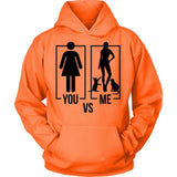 You Vs Me Type of Hoodie Jacket Design T-shirt teelaunch Unisex Hoodie Neon Orange S