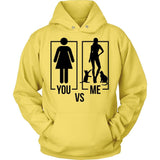You Vs Me Type of Hoodie Jacket Design T-shirt teelaunch Unisex Hoodie Yellow S