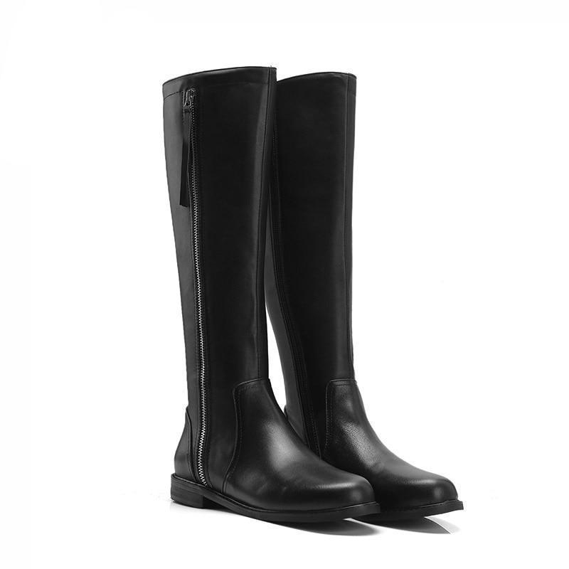 Zipper Leather Horse Riding Boots - US Sizes Horse Riding Boots Pet Clever