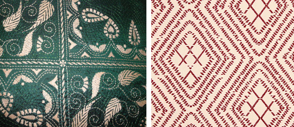 Kantha Embroidery Work Designs And Patterns Loom Tree