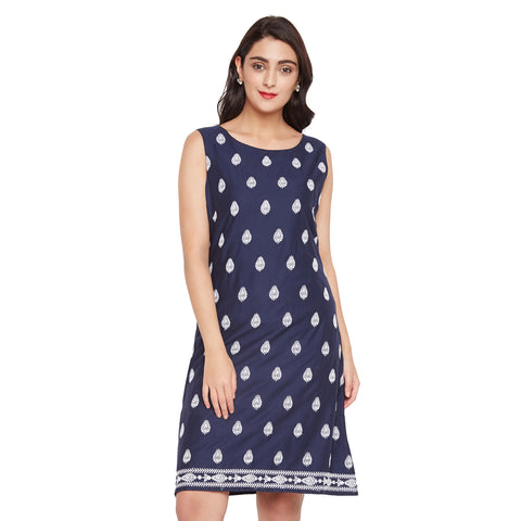 Cut Sleeve Schiffly Dress