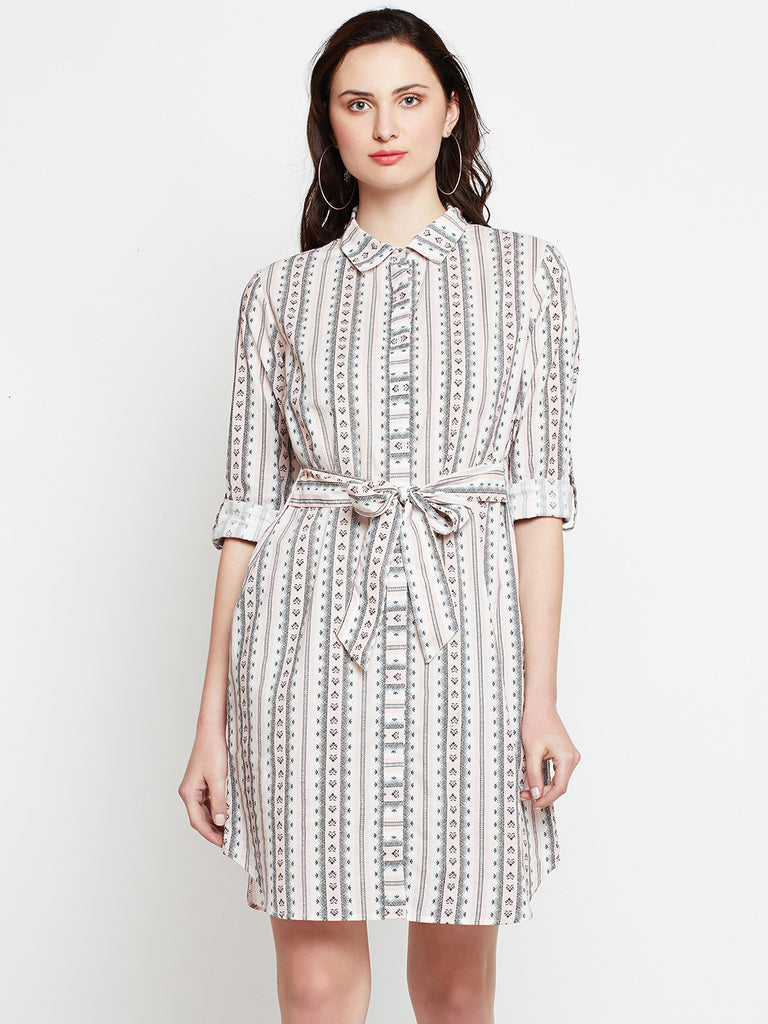 Tie-Up Shirt Dress
