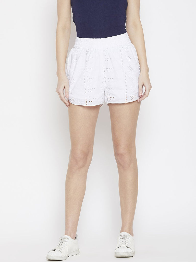 Summertime Schiffli Shorts