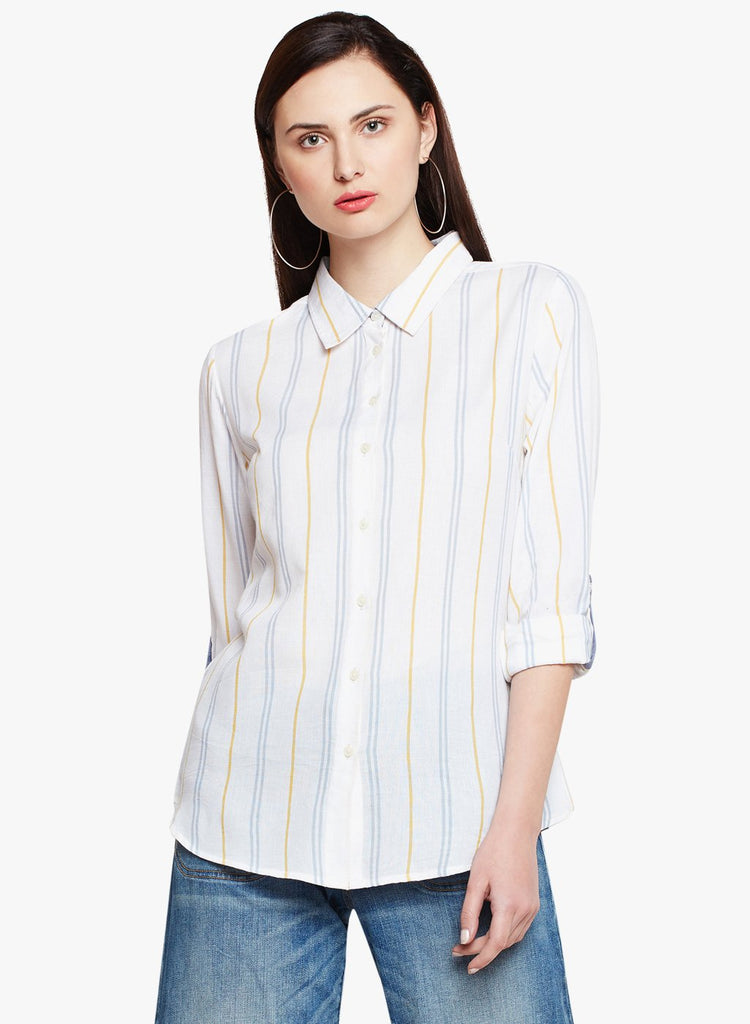 Variegated Stripe Collar Shirt