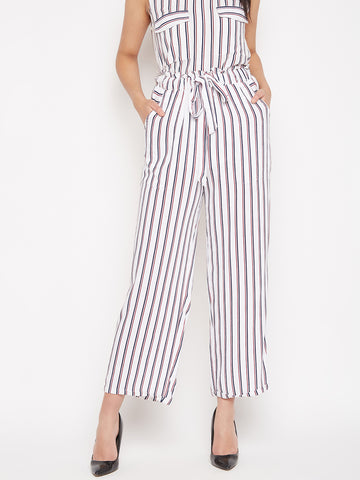 Paperbag Stripe Pants
