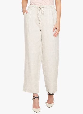 Breezy Beige Linen Pants