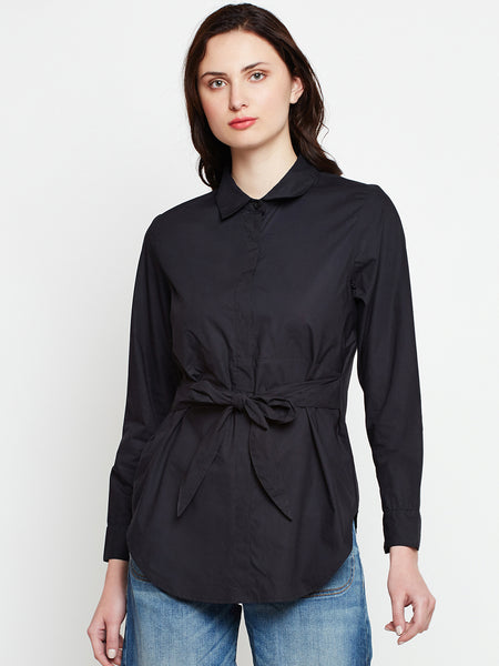 Tie-Up Shirt Top