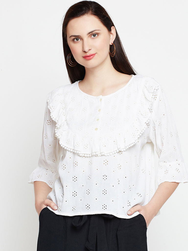 Meadow Ruffle Neck Blouse