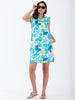 Floral Linen Ruffle Popover Dress