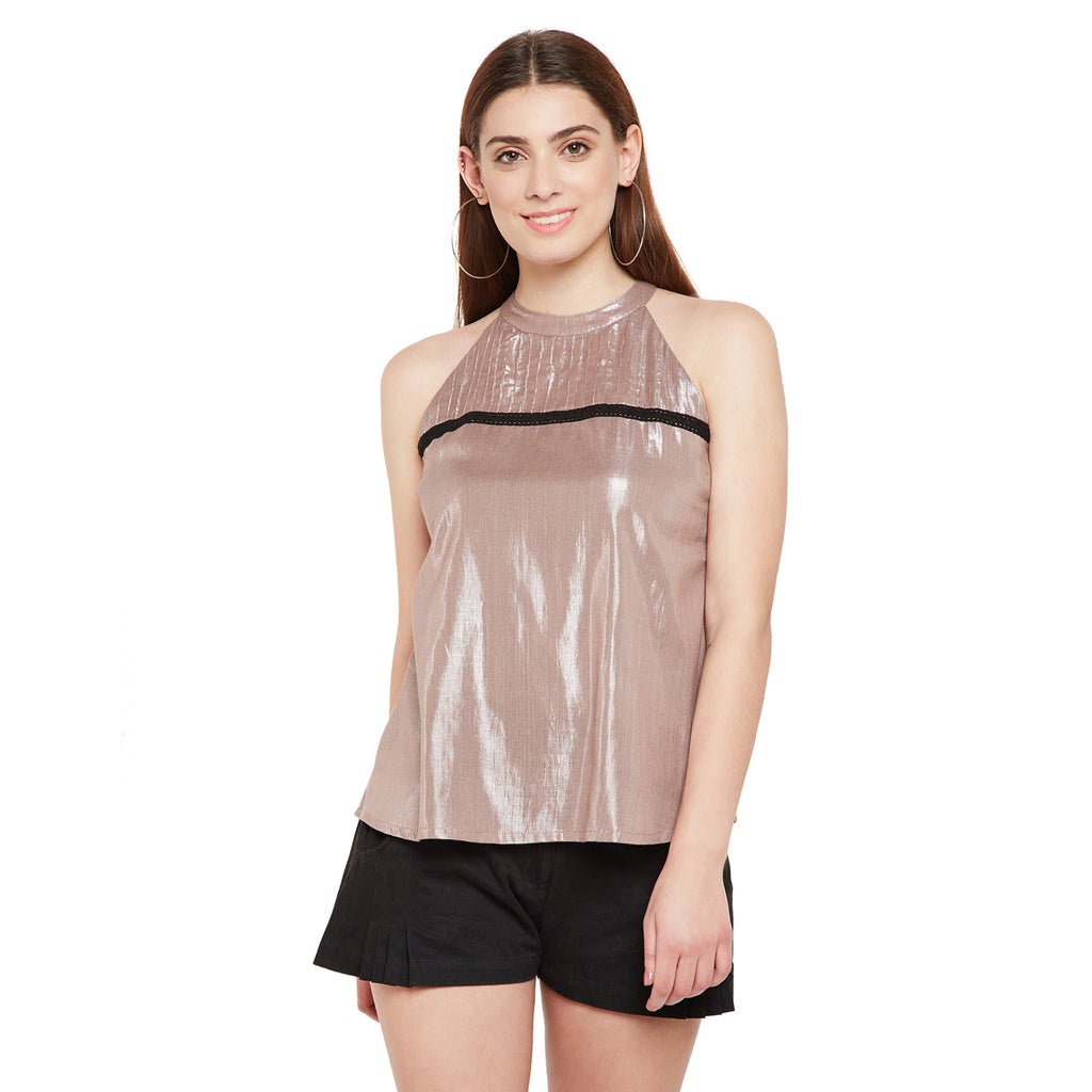 Halter Neck Shimmer Top