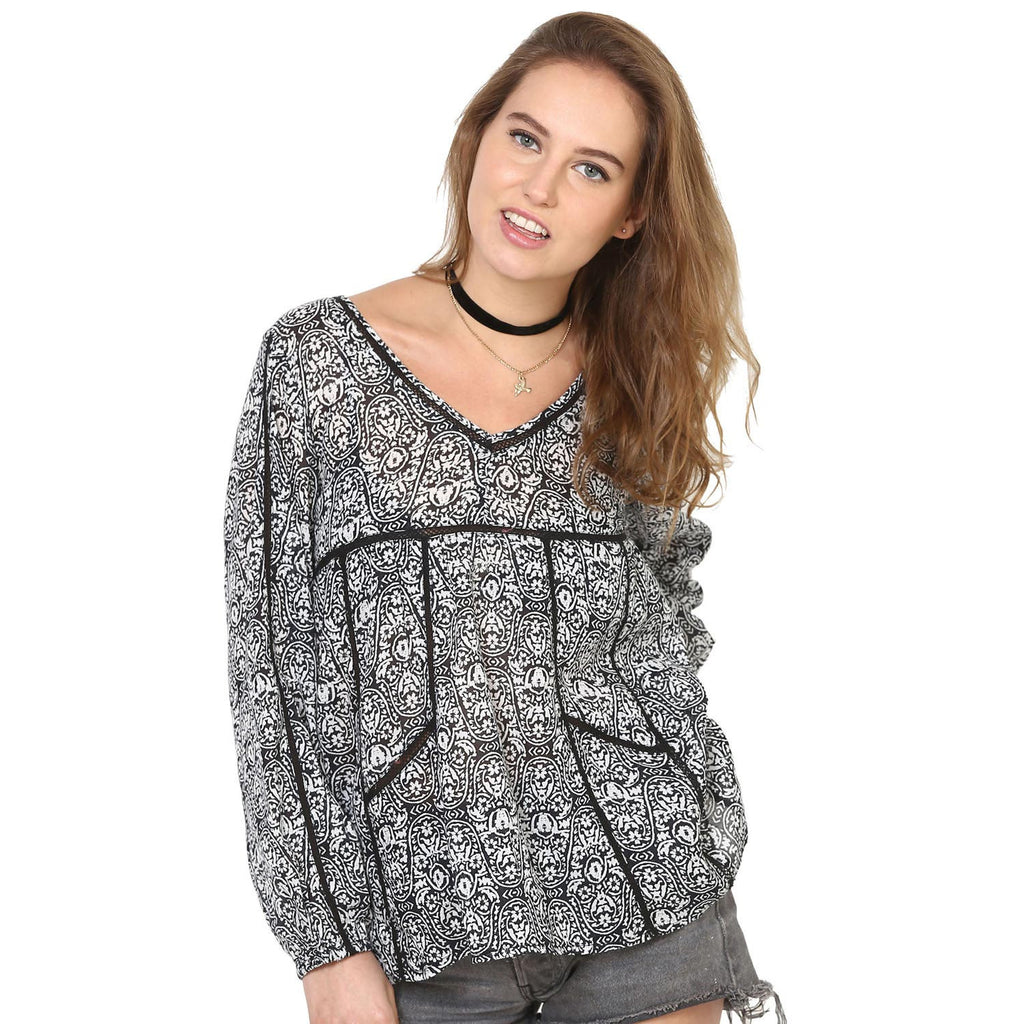 Christiana Back Tie String Blouse