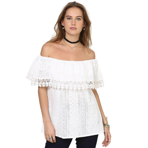 Stella  Off Shoulder Layered Top