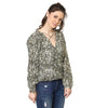 Emma Peasant Wrap Over Top with Criss Cross Neck