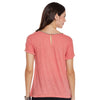 Carlie Neck Embroidered Tee