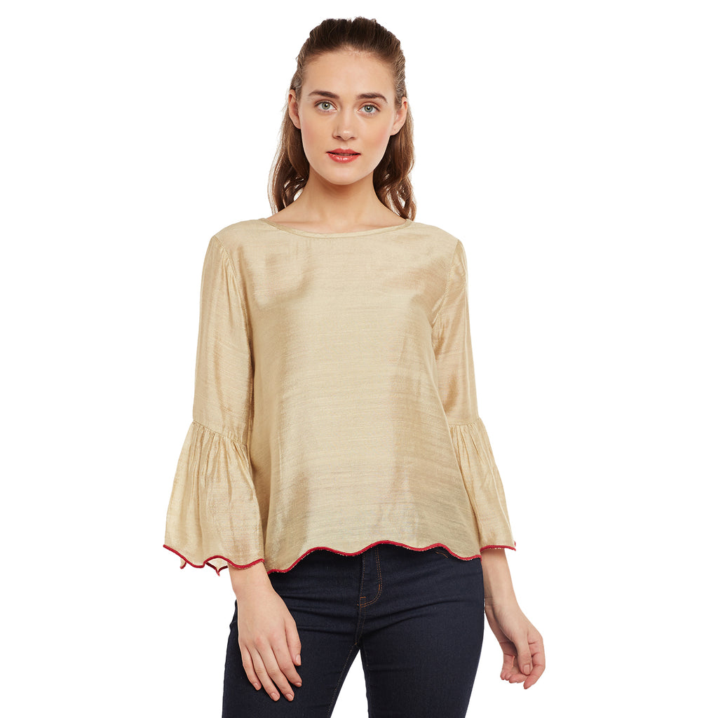 Jenny Scalloped Hem Top