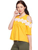 Adrienne Lace Yellow Top