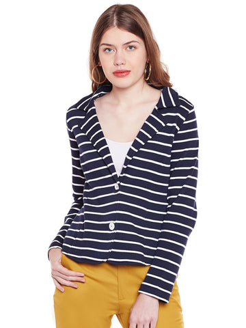 Loom Tree Striper Heavy Knit Blazer