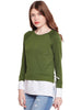 Loom Tree Olive Tie Up Sweatshirt