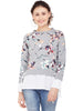 Flora Printed Tie Up Sweatshirt
