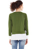 Olive Tie Up Sweatshirt