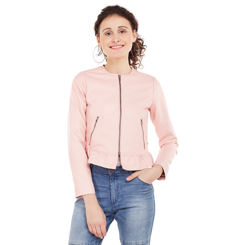 Eves Baby Pink Ruffle Jacket