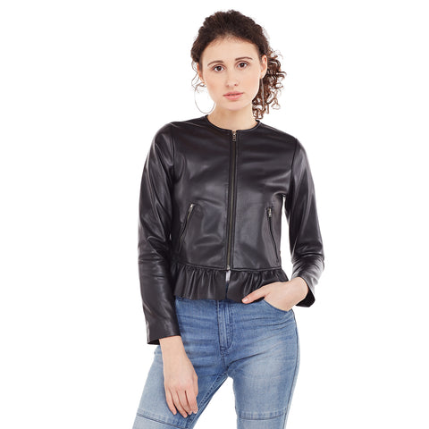 Eves Black Ruffle Jacket