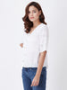 Schiffli sleeved Top