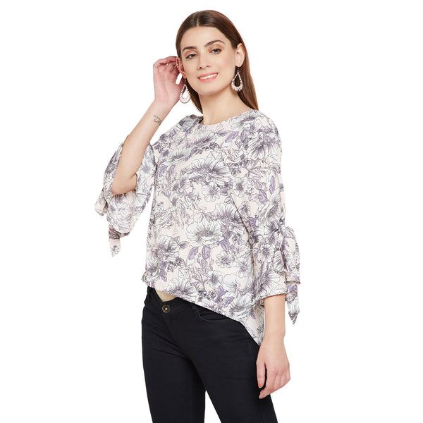 High Low Hem Floral Top