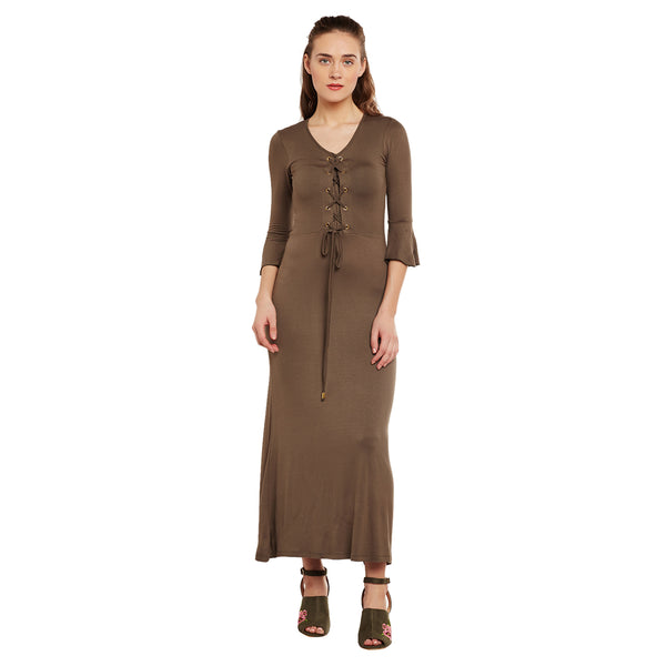 Lille Tie Up Detail Maxi Dress