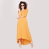 Fenille Mustard High Low Maxi Knit Dress