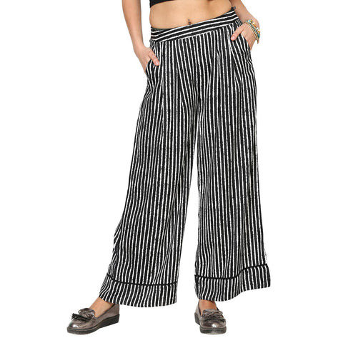 Ketty Black And White Striped Palazzo