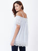 Cold Shoulder Border Eyelet Dress