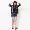 Taylor Plaid Shirt with Beaded Embroidery Detail