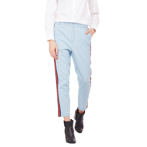 Gabriel Blue Side Panel Pants in Denim