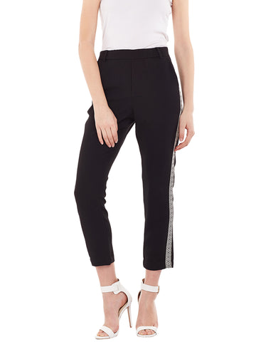 Gabriel Side Panel Pants in Black