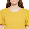 Solid Flared Hem Top