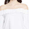 White Off Shoulder Ruffle Top