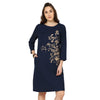 Zenobia Floral Embroidered Dress
