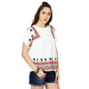 Erika White Linen Embroidered Top
