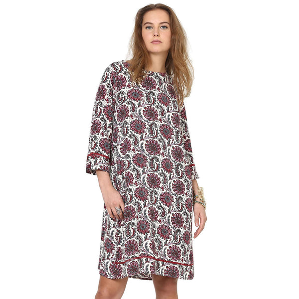 Ellie Floral Printed Pleated Shift Dress