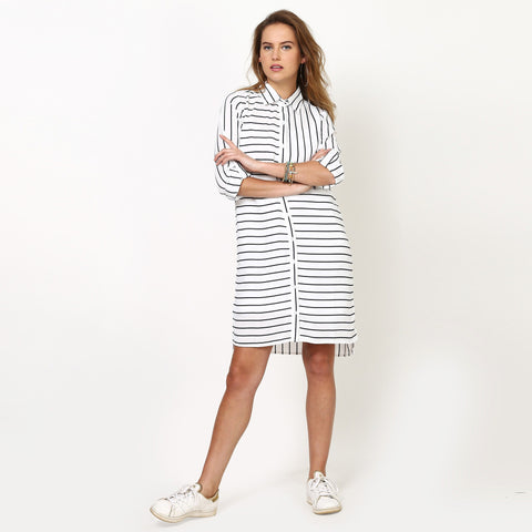 Abigail Striped Shirt Dress