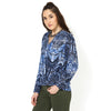 Krishika Foliage Print Wrap over blouson Top