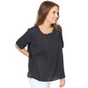 Pam Easy Pleated Top with Lace Inserts