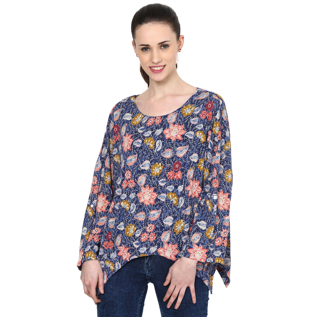 Loom Tree Peasant Top With Assymetrical Hem
