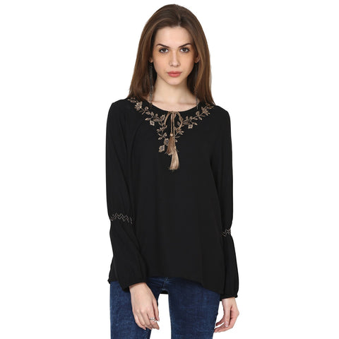 Joe Embroidered Peasant Top