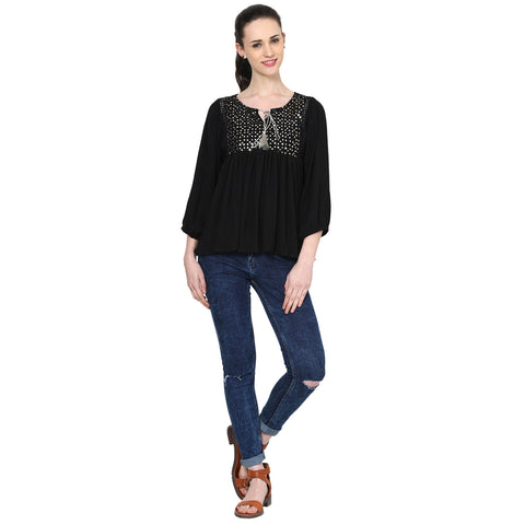 Nicole Yoke Embellished Top