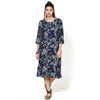 Myrea Blue Floral Printed Dress