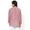 Debacca Red Drop Shoulder Casual Shirt